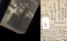 601094,Fotomontage Paar Liebe Händchenhalten Still Ruht Der See Text - Paare