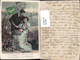 601088,Paar Liebe Händchenhalten Blumen Spruch - Paare