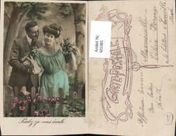 601085,Paar Liebe Verliebter Blick Blumen Parlez Je Vous Ecoute - Paare
