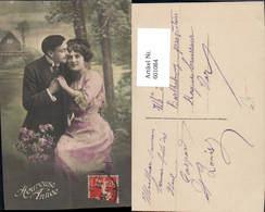 601084,Paar Liebe Händchenhalten Blumen Heureuse Annee - Paare