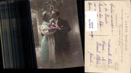 601081,Paar Liebe Verliebter Blick Rosen Blumen Bonne Annee - Paare