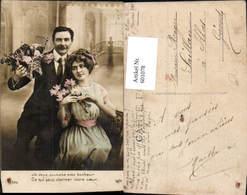 601078,Paar Liebe Blumen Spruch - Paare
