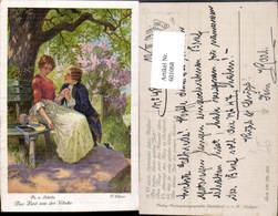 601068,Künstler Ak F. Elsner Das Lied V. D. Glocke Schiller Paar Liebe Händchenhalten - Paare