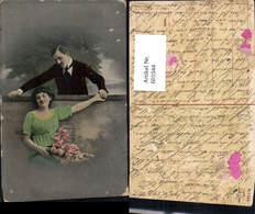 601044,Paar Liebe Verliebter Blick Rosen Blumen - Paare