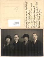 601023,Foto Ak Gruppenbild Frauen Männer Mode Pelz Hut Pub Karl Schröder Salzburg - Ansichtskarten