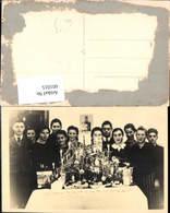 601015,Foto Ak Gruppenbild Kinder B. Christbaum Weihnachtsbaum - Ansichtskarten