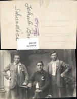 601008,Foto Ak Männer Anzug Stellung Musterung WW1Jakub Brhel Schardice - Männer