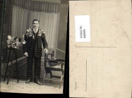 600999,Foto Ak Mann Anzug Stellung Musterung WW1 - Männer