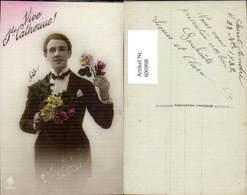 600998,Mann Anzug M. Blumen Vive St Catherine Namenstag - Männer