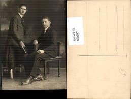 600997,Foto Ak Junge Männer Anzug Buch I. Hand - Männer
