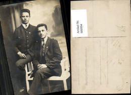 600994,Foto Ak Brüder Zwei Männer Anzug Tracht - Männer