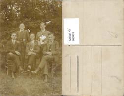 600993,Foto Ak Gruppenbild Männer Anzug Tracht - Männer