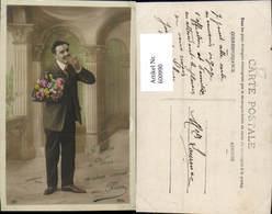 600990,Mann Anzug M. Blumen - Männer