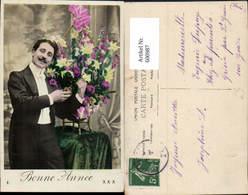 600987,Mann Anzug M. Blumen Bonne Annee - Männer