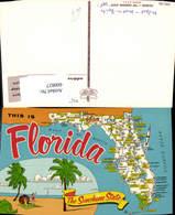 600827,Lagekarte Florida The Sunshine State USA - Vereinigte Staaten