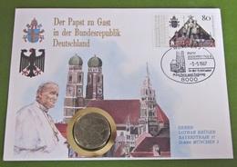 Numisbrief Der Papst Zu Gast Münze Medaille 1987 Vatikan - Vatikan