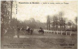 Hippodrome De BOITSFORT - Watermaal-Bosvoorde - Après La Course, Rentrée Au Pesage - Publicité Bisquits Parein Anvers - Watermael-Boitsfort - Watermaal-Bosvoorde