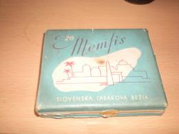 Old Cardboard Tobacco Box  Memfis Slovenska Tabakova Rezia Kremnica - Contenitori Di Tabacco (vuoti)
