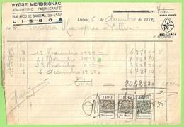 Lisboa - Factura Do Joalheiro Pyére Merdrignac - Relojoaria - Ourivesaria - Ourives - Portugal