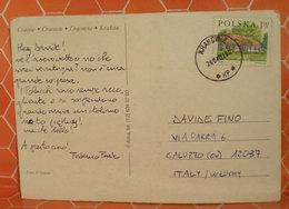 2001 Storia Postale Polonia Su Cartolina Per Italia - 1944-.... Repubblica