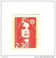 Briat 2fr30 Rouge YT 2614b En Non Dentelé . Superbe Et Rare , Voir Le Scan . Cote YT :  12.50 € . - France