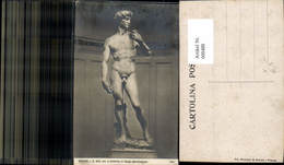 600488,Firenze Florenz David Statue V. Michelangiolo Pub Ed. Montinari & Albucci 372 - Denkmäler