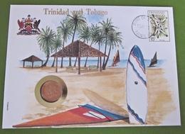 Numisbrief Africa Trinidad And Tobago 5 Cents Stempel 1983 Briefmarken - Trinidad & Tobago