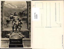 600486,Altdorf Telldenkmal Wilhelm Tell Statue - Denkmäler