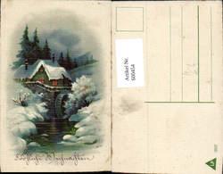 600454,Wassermühle Winterlandschaft Weihnachten - Wassermühlen