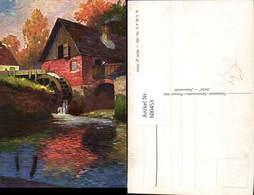 600453,Künstler Ak Wassermühle Herbststimmung - Wassermühlen