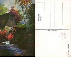 600452,Künstler Ak Wassermühle Herbststimmung - Wassermühlen