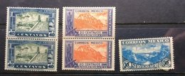 MEXICO 1938 Opening Of Mexico To US Road - Laredo - Mint Set MNH - Mexico