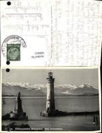 600431,Leuchtturm Lindau I. Bodensee Hafenausfahrt Scesaplana Drei Schwestern - Leuchttürme