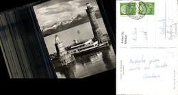 600428,Foto Ak Leuchtturm Lindau I. Bodensee Hafeneinfahrt Schiff Dampfer - Leuchttürme