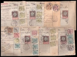 AUSTRIA. 1894-5. Package Correspondence To Switzerland. Selection Of 8 Diff, Multicolored, High Values. Opportunity. - Austria
