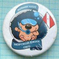 UKRAINE / Badge / Diving. Underwater Sport. Club Sea Hedgehog. KYIV - Diving