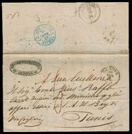 Italy - Prephilately. 1854 (18 Nov). Genova - Tunis. EL Full Text Via Cagliari With Clear Blue Cds Tunisi / Poste Sarde - Italy