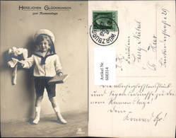 600314,Kind Bub Junge Matrosenanzug Geschenk Rosen Blumen Namenstag Pub RPH 3389/5 - Kinder