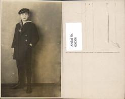 600306,Foto Ak Kind Junge Bub M. Matrosenanzug Matrose - Kinder