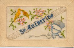 CARTE BRODEE MAIN - SAINTE CATHERINE - Brodées