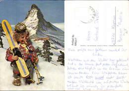 600217,Puppe Igel Vermenschlicht Ski Schi Wintersport V. Matterhorn Zermatt - Kinder