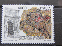 *ITALIA* USATO 1998 - ROMA CAMPIONATI MONDIALI EQUITAZIONE - SASSONE 2370 - LUSSO/FIOR DI STAMPA - 1991-00: Used