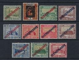 GERMANY SARRE 1922 SERVICE STAMPS - 1920-35 Sociedad De Naciones