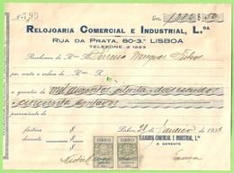Lisboa - Factura Da Relojoaria Comercial E Industrial, Lda. - Ourivesaria - Ourives - Portugal
