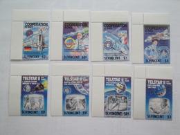 1989 St Vincent Yv 1158A / 1158H ** MNH Espace Space Cote 14.00 € Michel 1212/20  Scott 1163/70 - St.Vincent (1979-...)