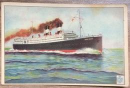"AK TRANSPORT SHIP STEAMER S/S ""GIULIO CESARE"" - Dampfer"