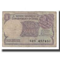 Billet, Inde, 1 Rupee, 1981, KM:78a, B+ - Inde