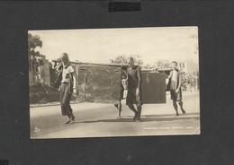 Vintage Tuck Postcard Coolies Carrying Case Hongkong  Unposted - China (Hong Kong)