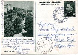 1953 Herceg Novi Crna Gora Tito Jugoslavia Montenegro Yugoslavia Used Postcard Ilustrovana Koriscena Dopisnica - Montenegro
