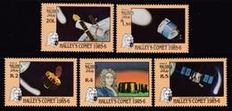 SERIE NEUVE DES MALDIVES - PASSAGE DE LA COMETE DE HALLEY N° Y&T 1050 A 1054 - Astronomie
